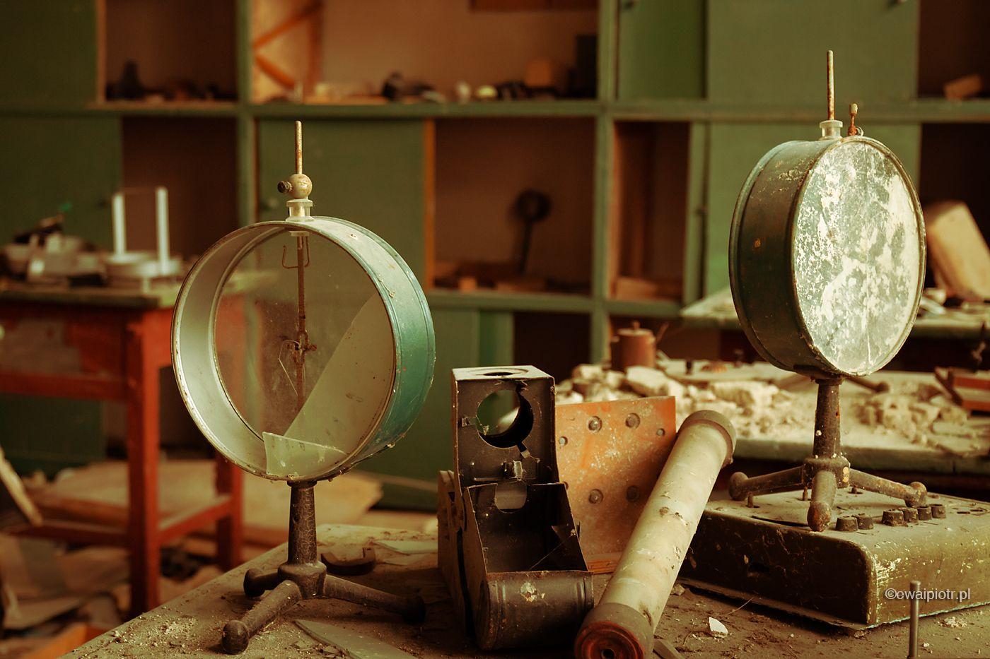 Przerwana lekcja fizyki, szkoła w wiosce w Strefie, Czarnobyl