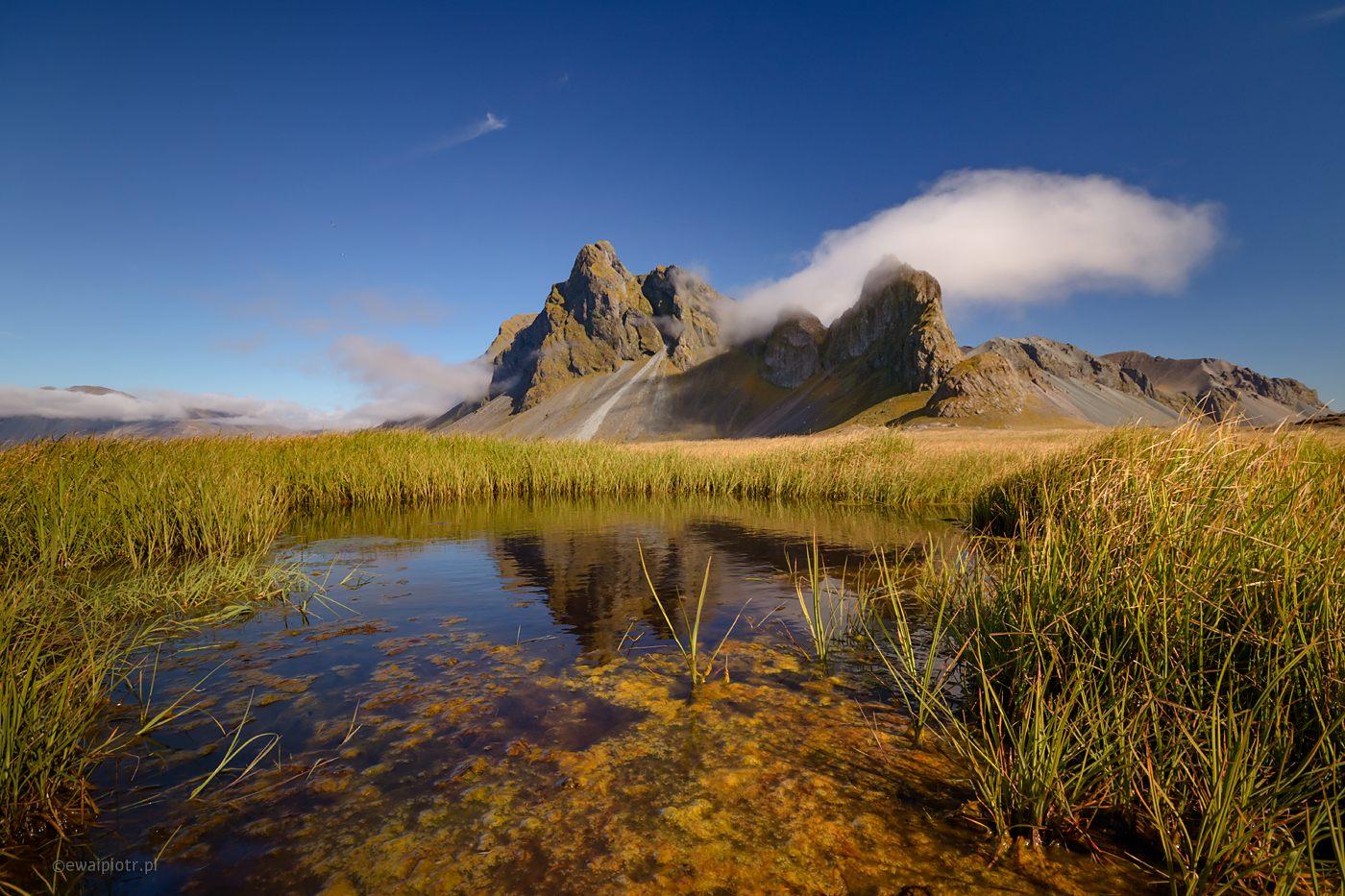 Jezioro przy górze Eystrahorn, Islandia