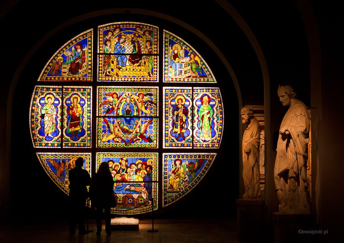Witraż w katedrze, Siena, Toskania, fotowyprawa