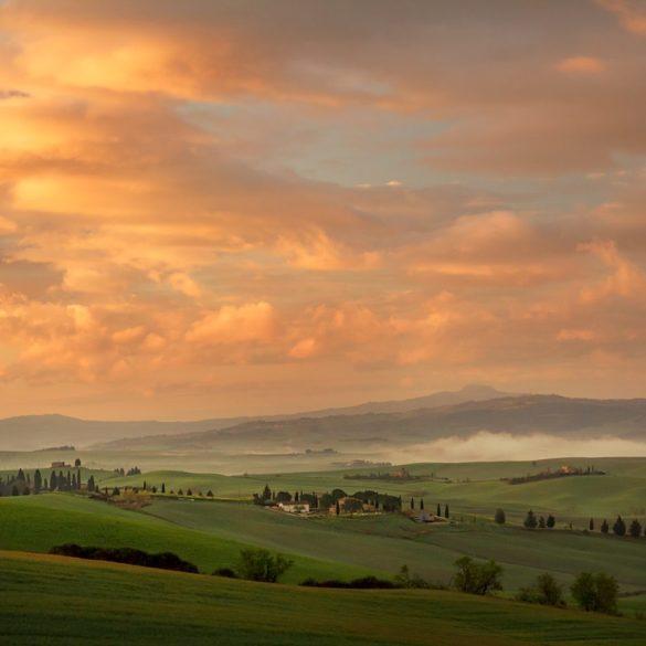 Kolorowe niebo nad Toskanią, fotowyprawa