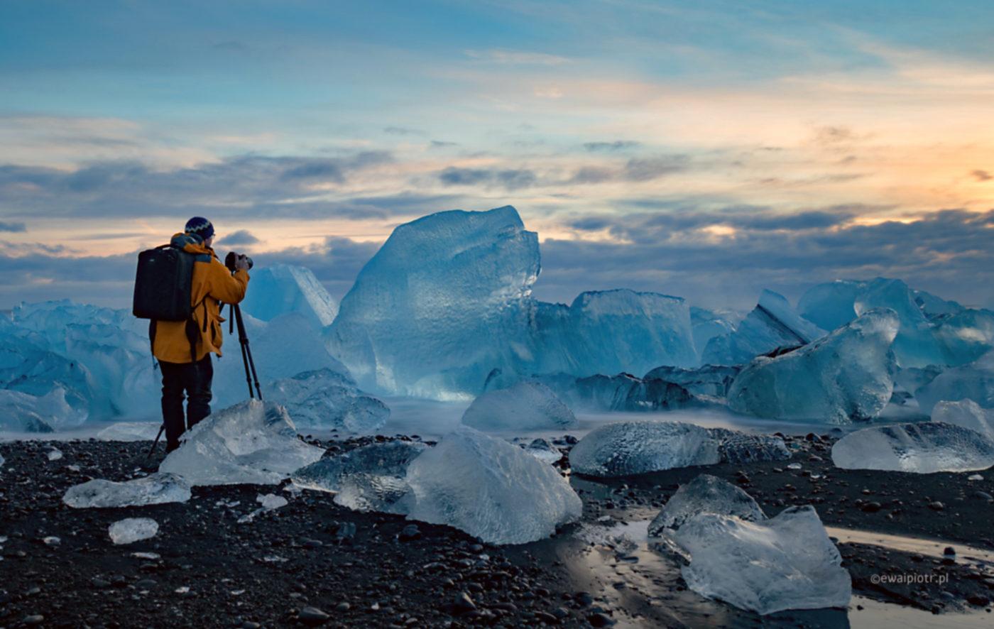 Zima na Jokulsarlon, Islandia