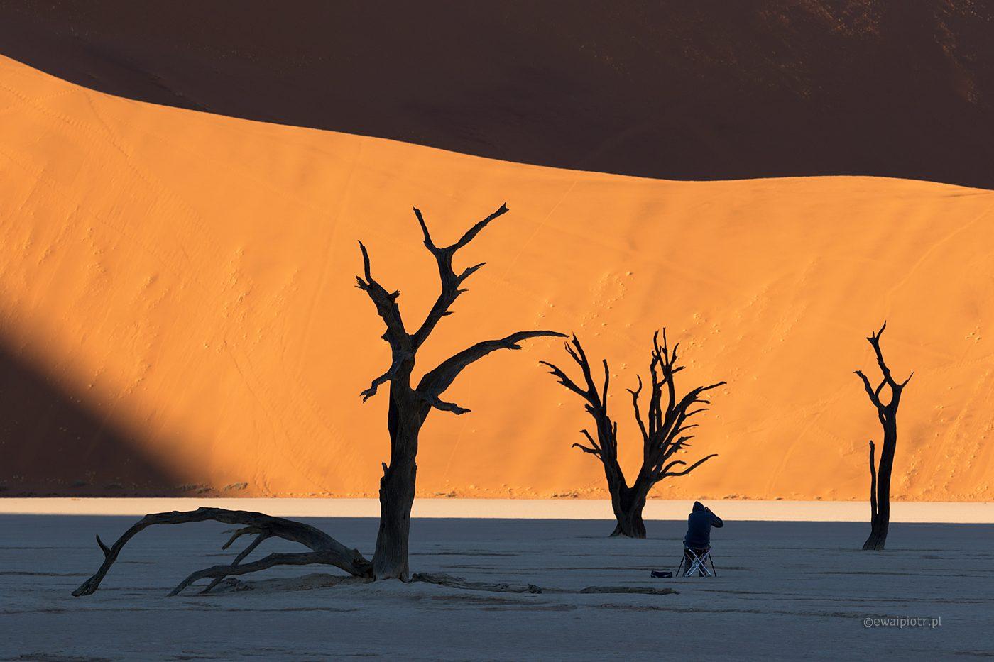 Deadvlei i fotograf, Namibia