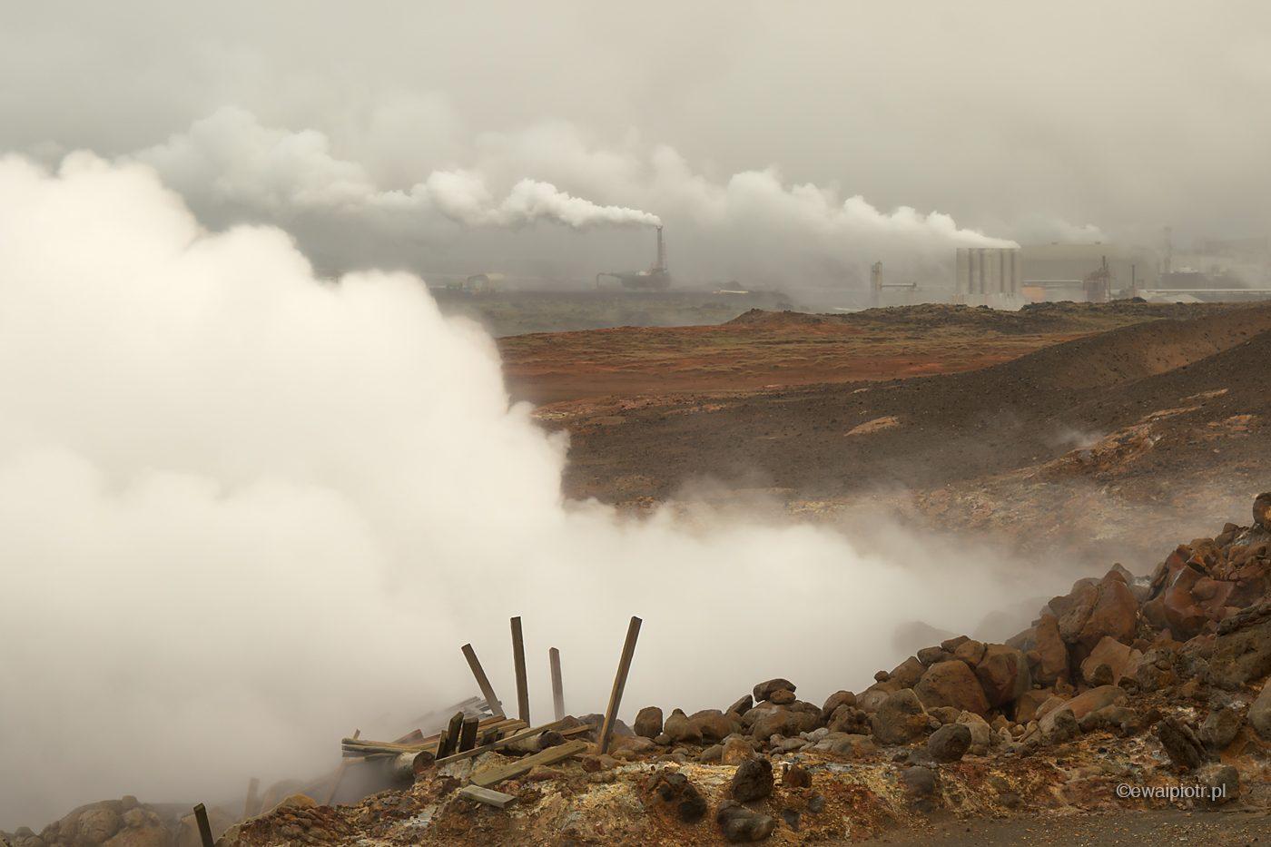 Pole geotermalne Gunnuhver, Islandia