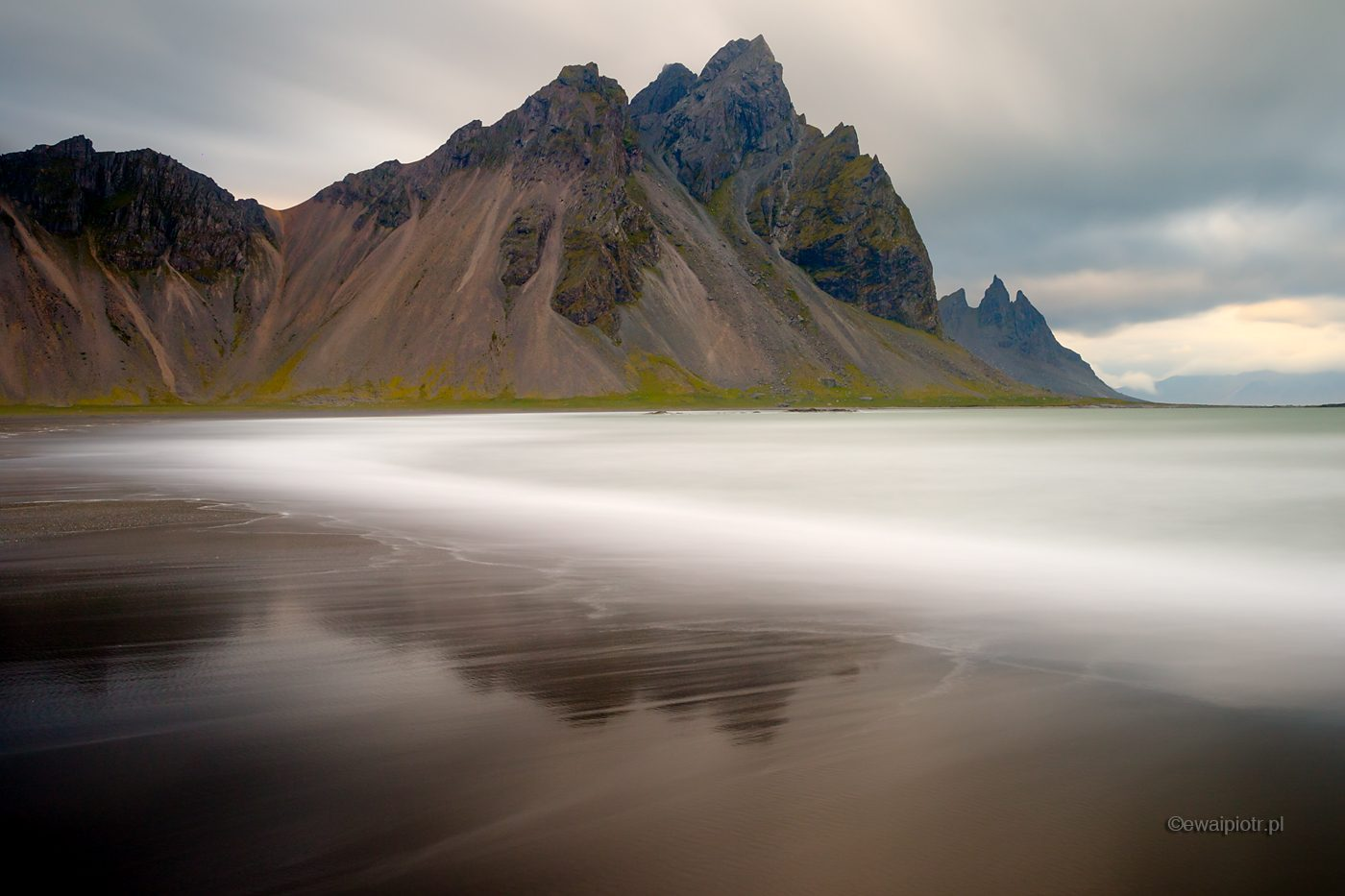 Vestrahorn i plaża, Islandia
