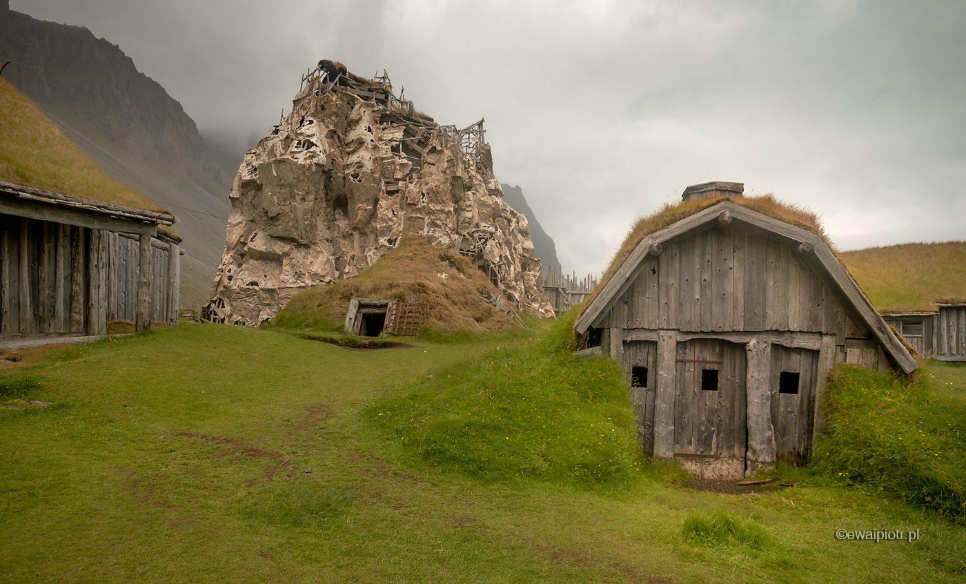 Osada wikingów przy Vestrahorn, Islandia