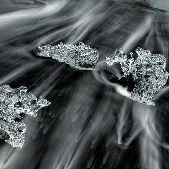 Diamenty Jökulsárlón, Islandia, lód na Lodowcowej Plaży