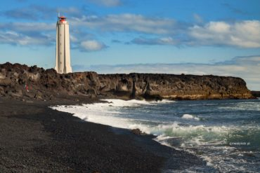 Latarnia Malariff, Islandia, fotograficzne iluzje optyczne