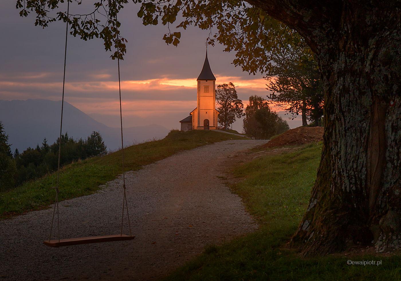 Jamnik i huśtawka, Słowenia, jak fotografować o świcie