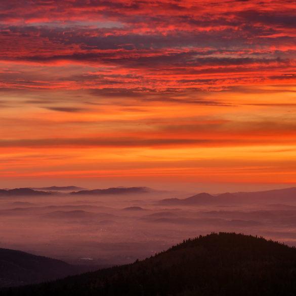 Wschód słońca na Wysokim Kamieniu, Sudety