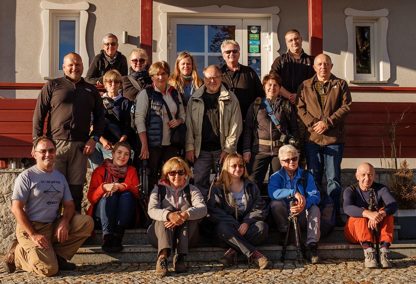 Uczestnicy warsztatów fotograficznych Złoty Czas Jesieni 2019
