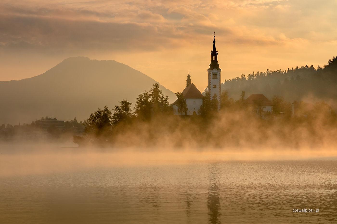 Nad jeziorem Bled, Słowenia