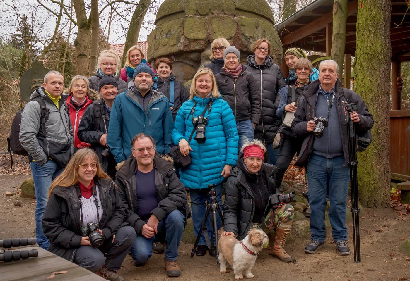 Uczestnicy warsztatów fotograficznych Dęby Rogalinskie 2020
