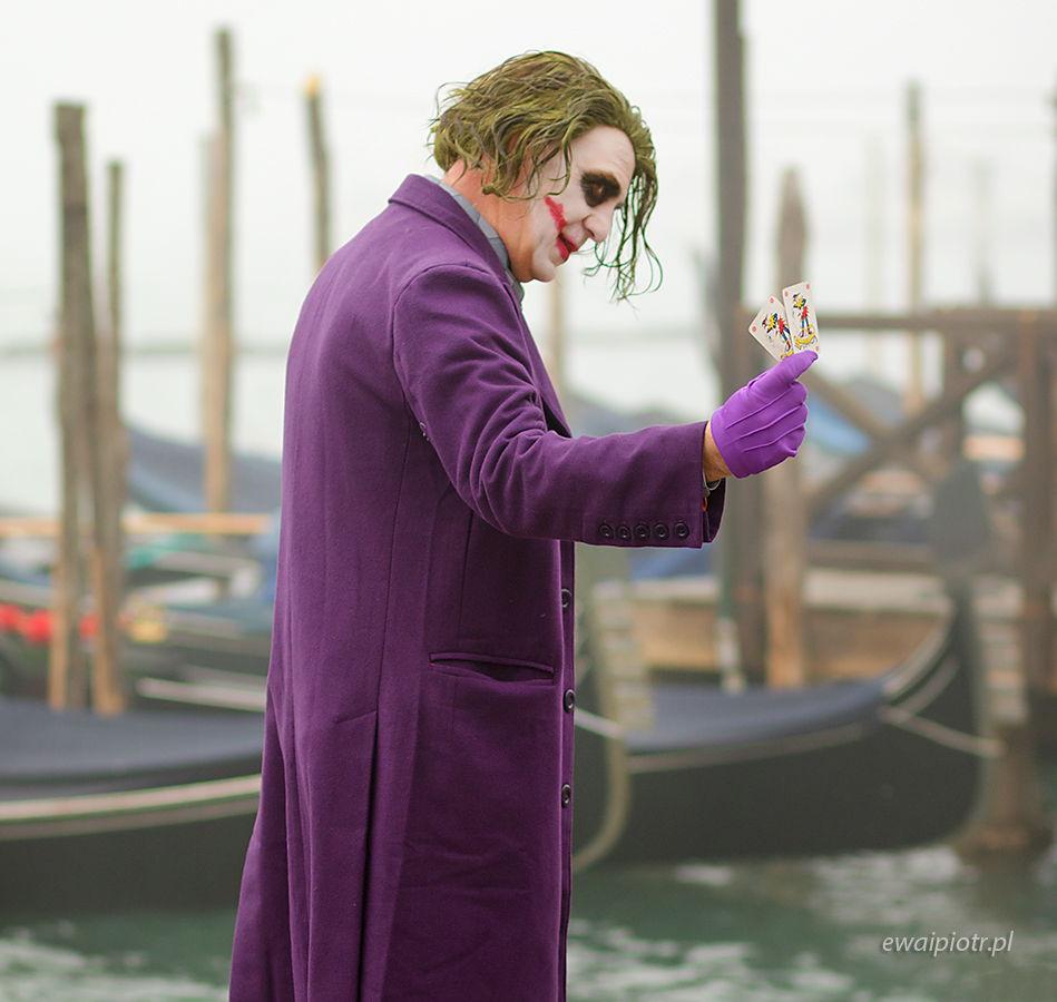 Joker w Wenecji, karnawał, Wenecja, wyprawa foto
