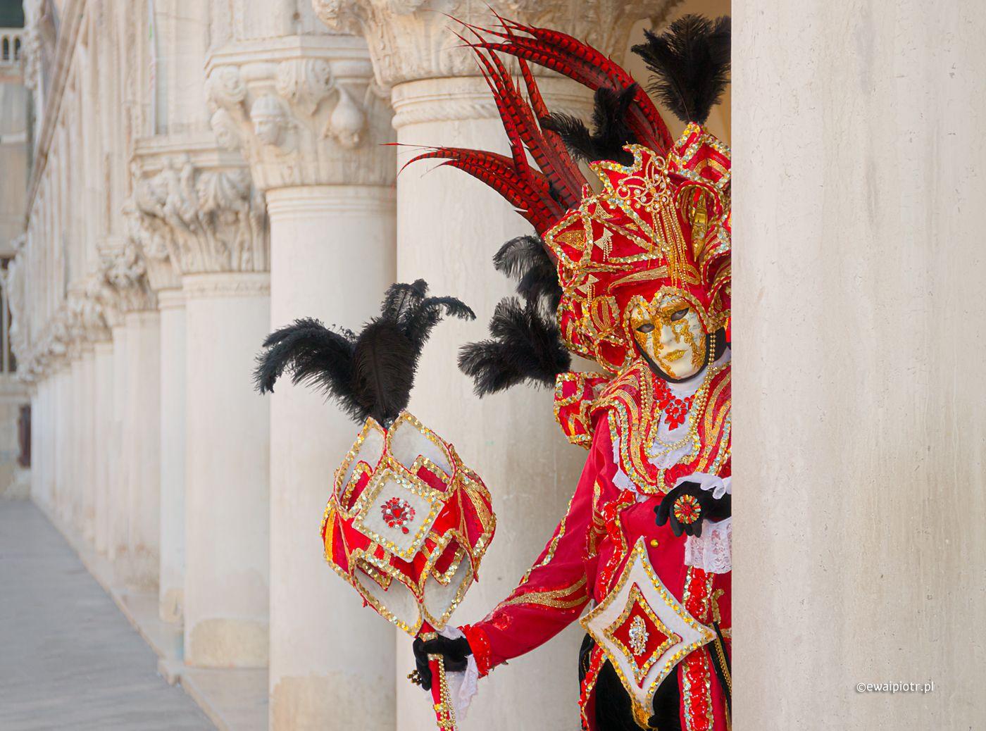 Wenecjanin i kolumny, kreatywność, edycja zdjęć