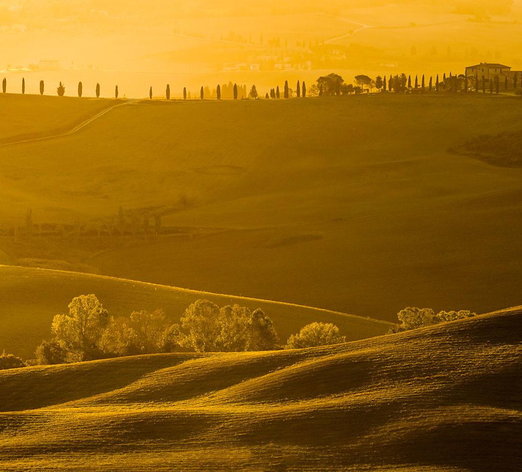 Wschód słońca w Toskanii, plener otwarty, warsztaty fotograficzne