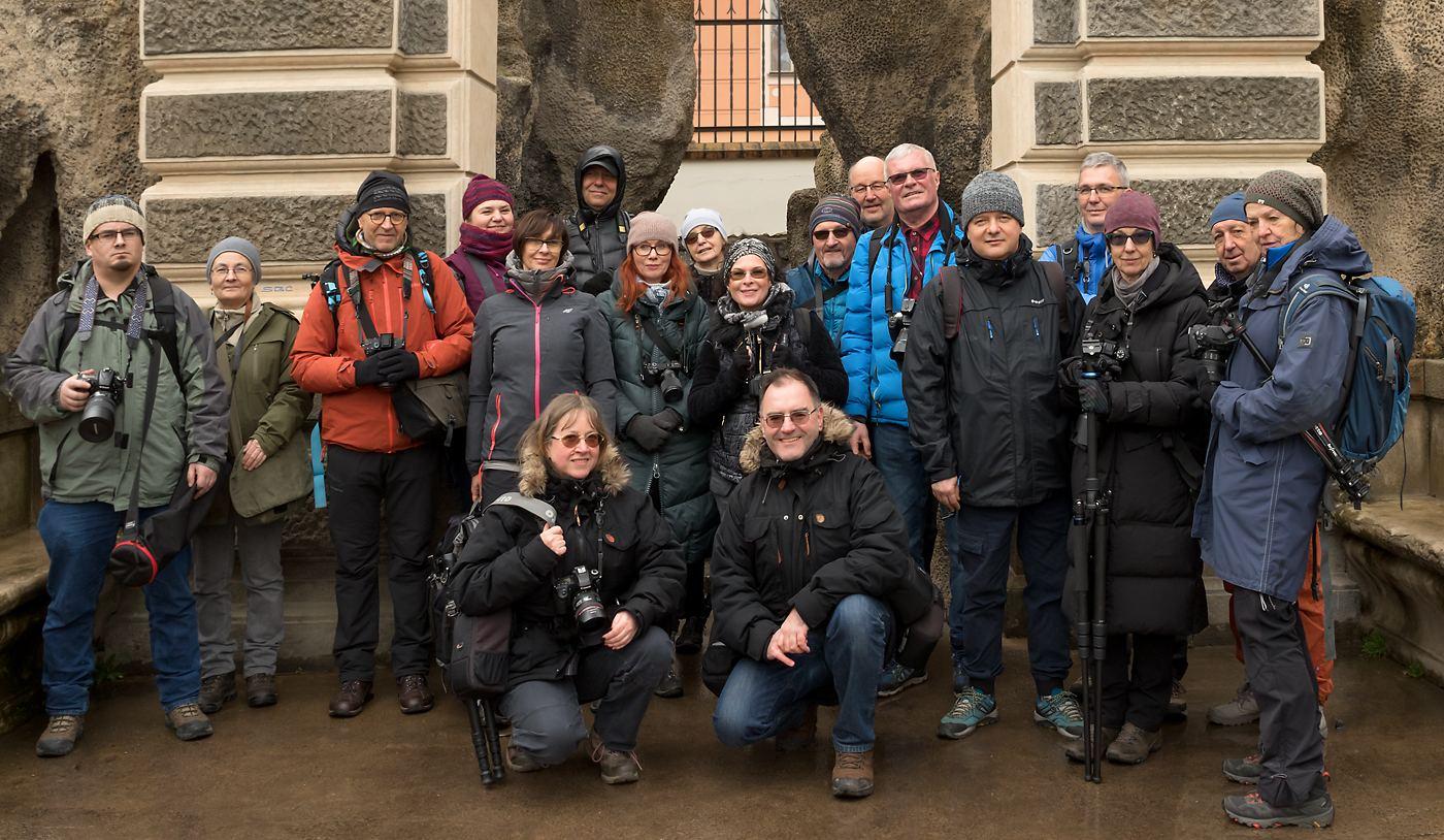 Uczestnicy warsztatów fotograficznych Labirynty Pragi 2020