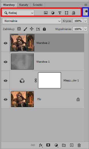 znikające warstwy w Photoshopie