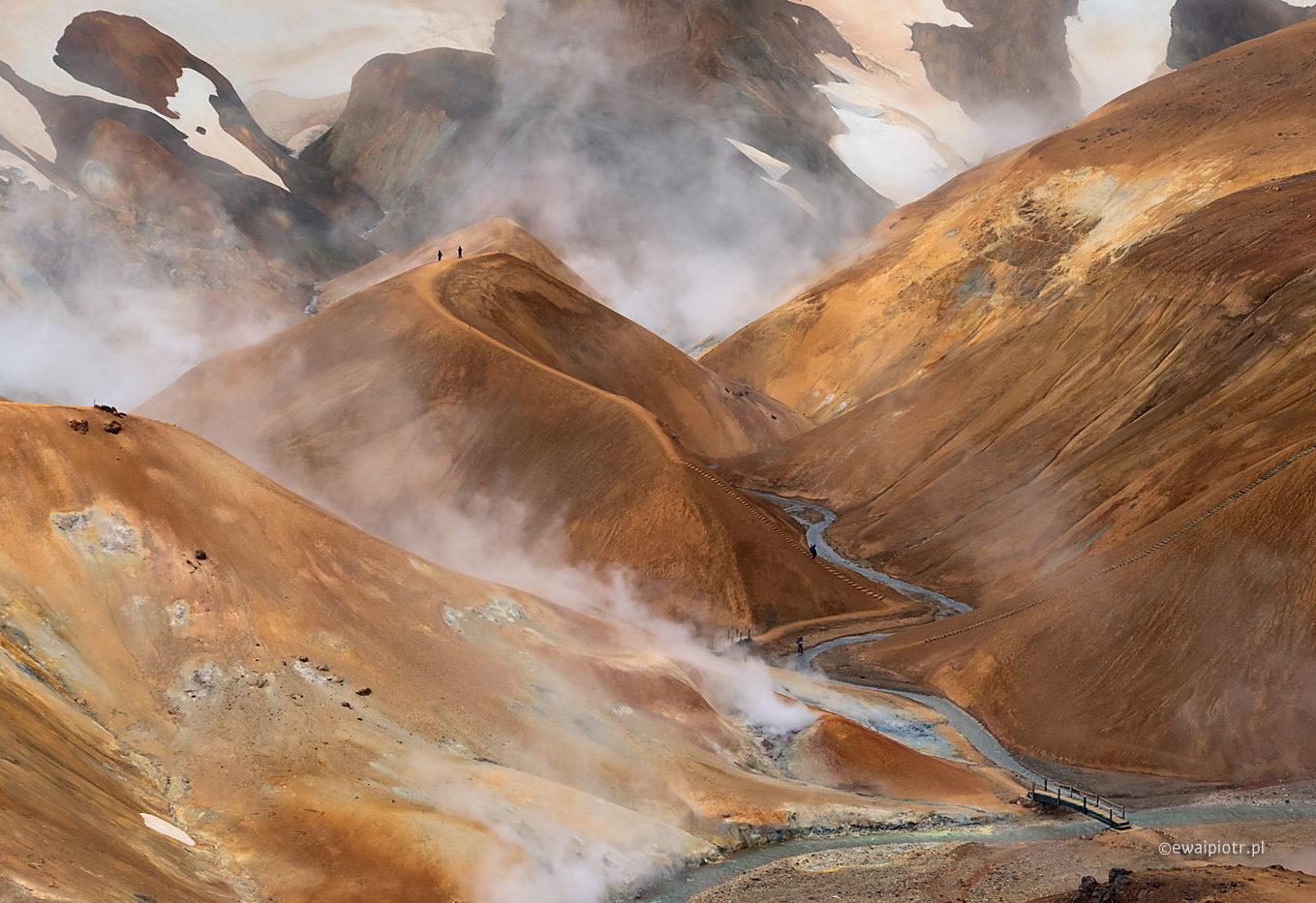Dymy Kerlingarfjöll, Islandia, jak latać na Islandię po koronawirusie