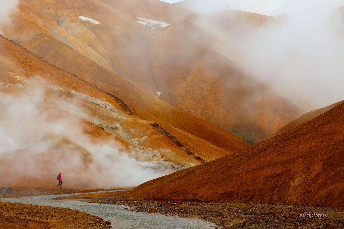 Pomarańczowe wzgórza Kerlingarfjoll, Islandia