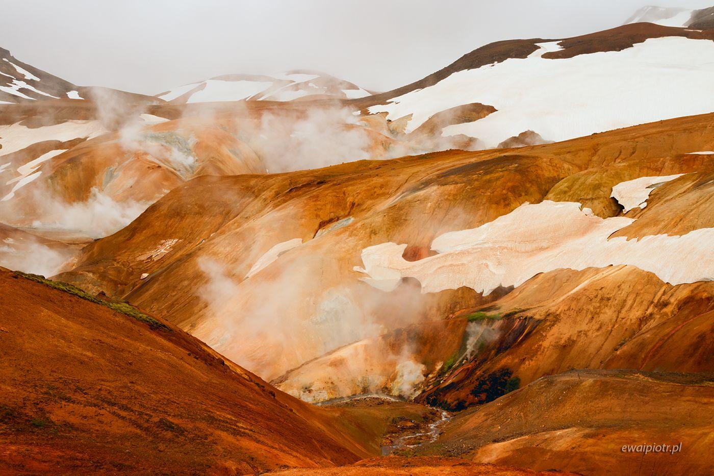 Kerlingarfjoll - para, śnieg i pomarańcz, Islandia