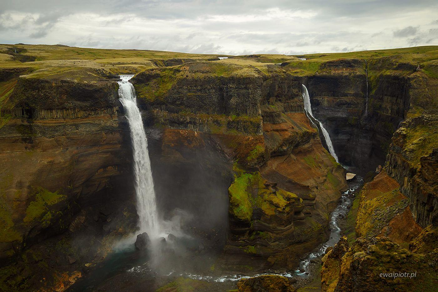 Wodospad Haifoss, Islandia, warsztaty fotograficzne