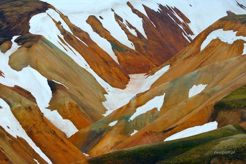 Kolorowe wzgórza Landmannalaugar, Islandia