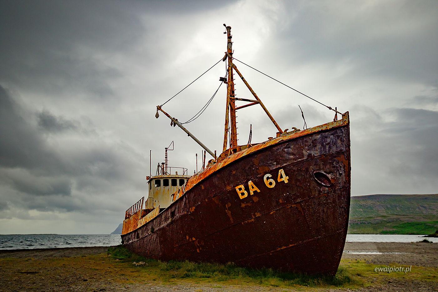 Wrak BA 64, Islandia, Fiordy Zachodnie, warsztaty fotograficzne