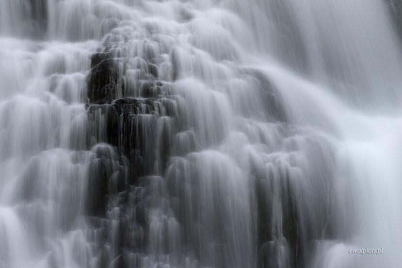 Warkocze Dynjandi, Islandia, wodospad, długa ekspozycja
