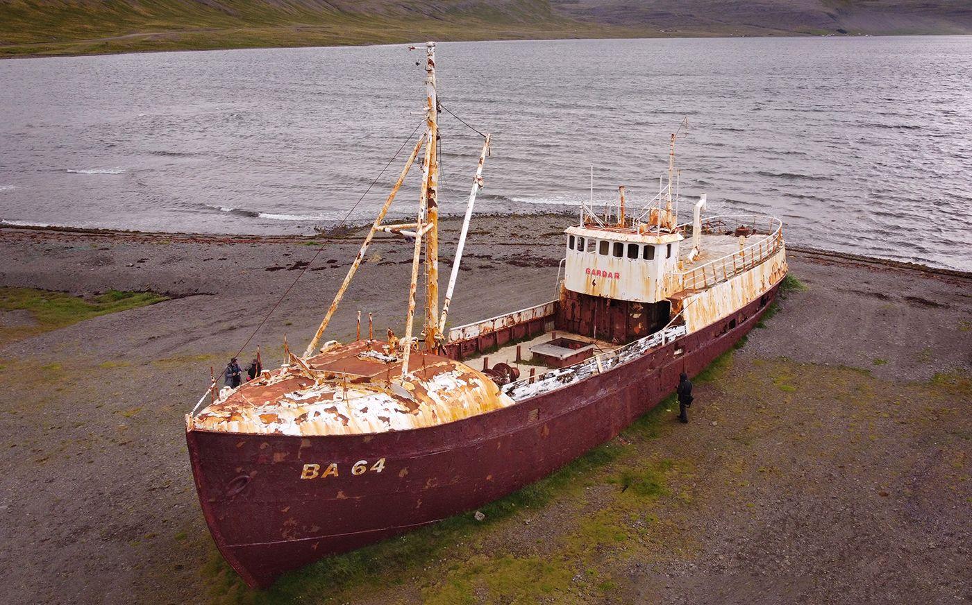 Wrak statku BA64, Islandia, Fiordy Zachodnie