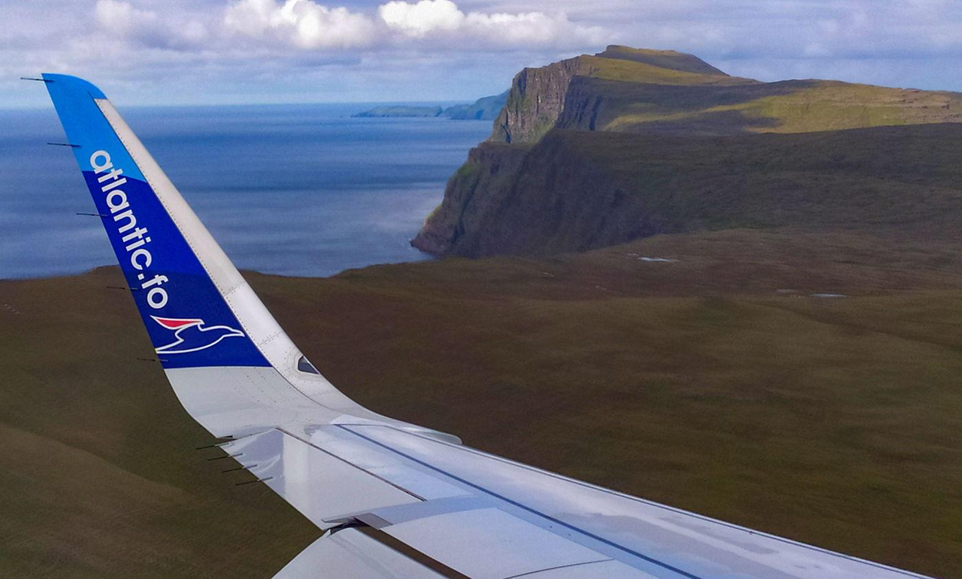 Wyspy Owcze z samolotu, Atlantic Airways i Fareje, fotowyprawa