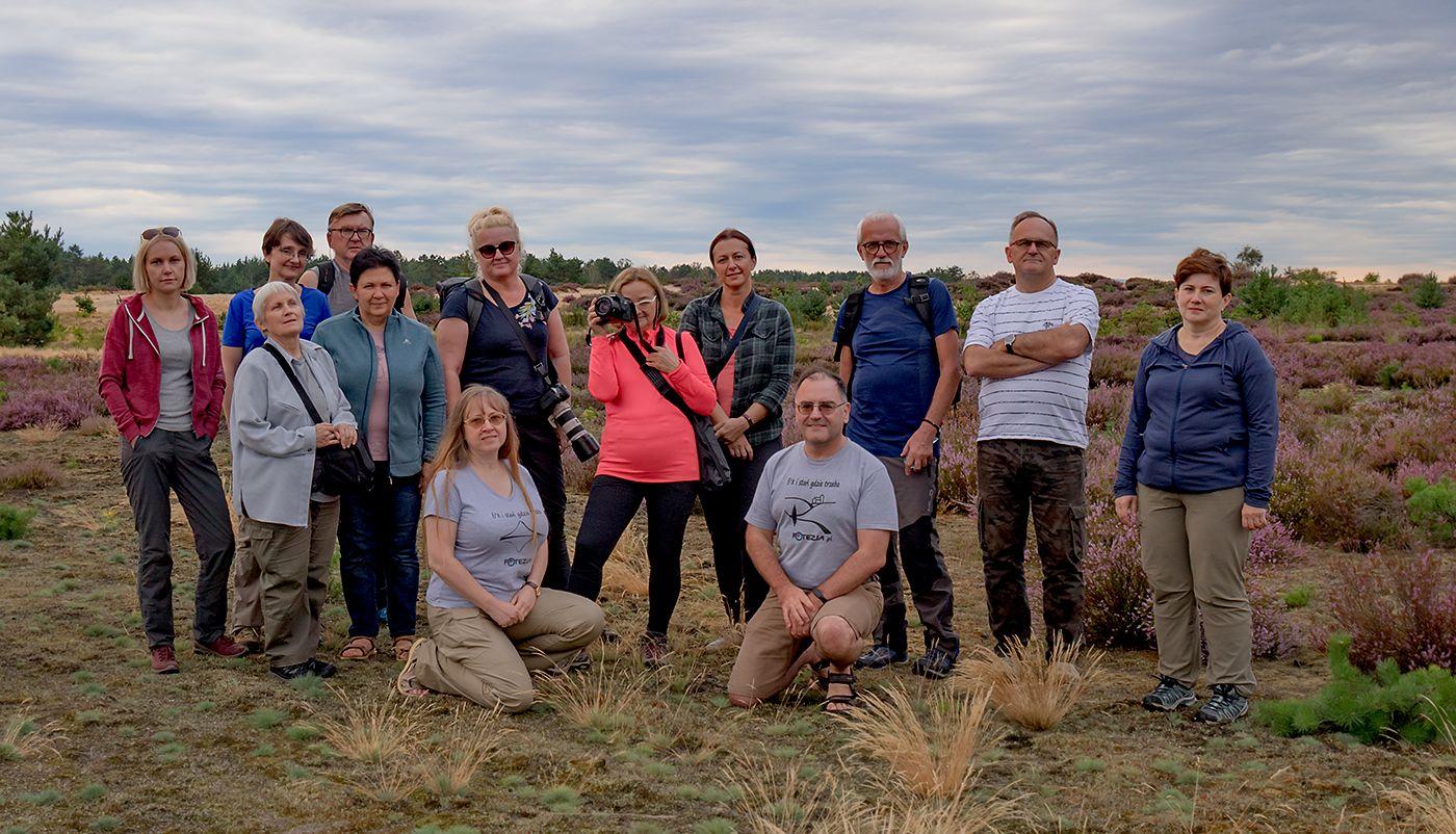Uczestnicy warsztatów fotograficznych Wrzosowa Kraina 2020