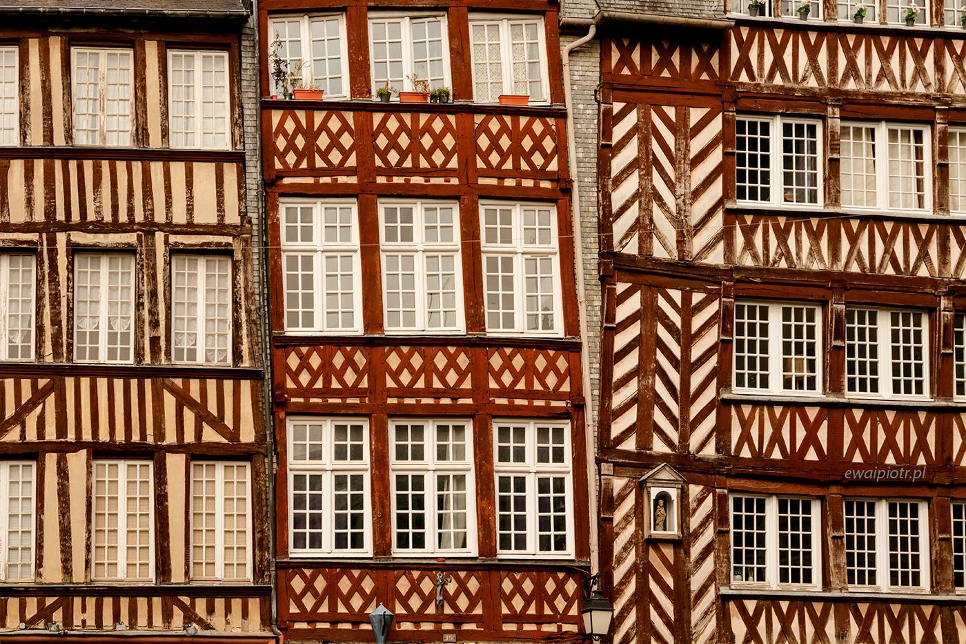 Kamieniczki w Rennes, Bretania, wyprawa fotograficzna