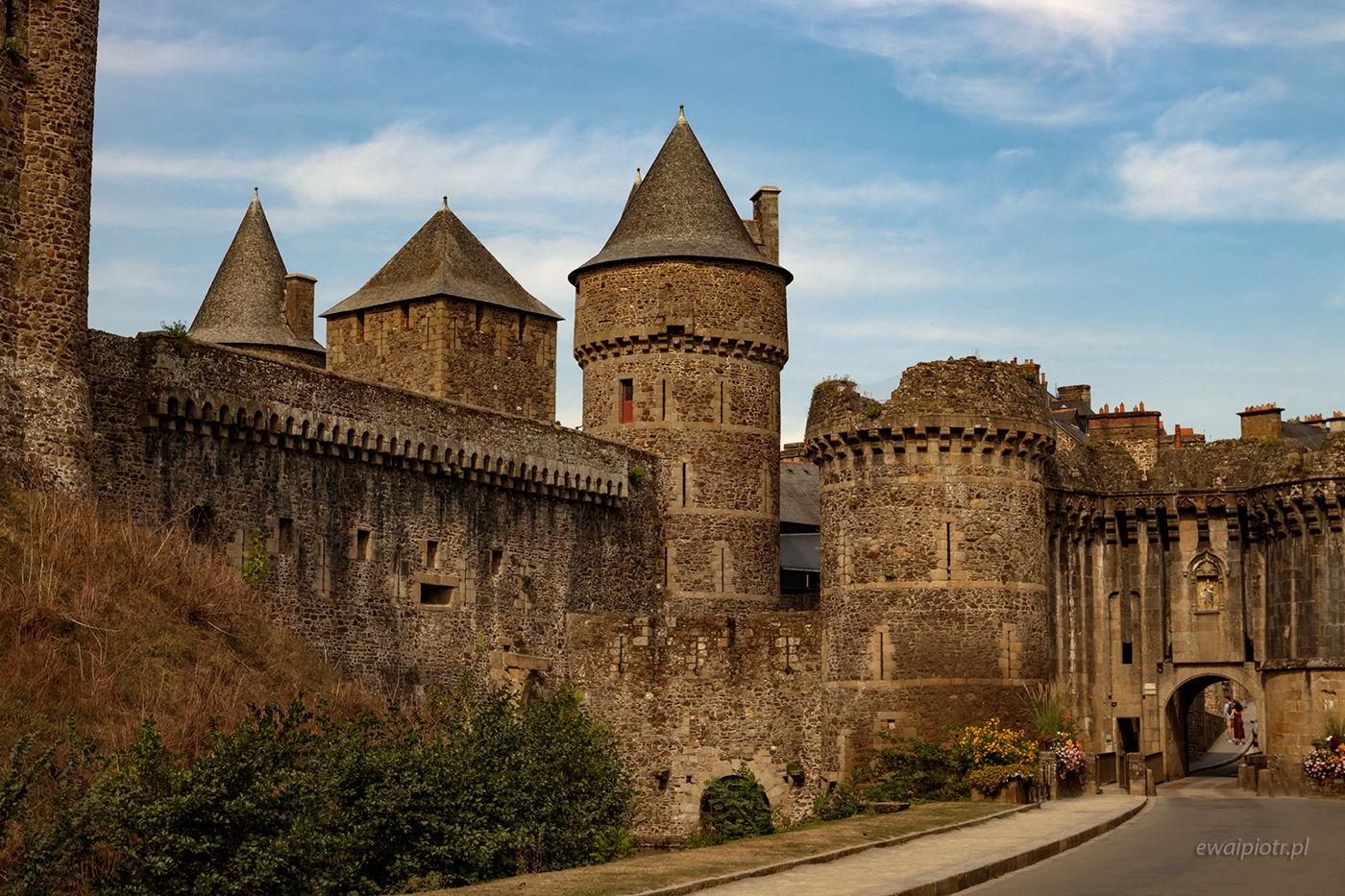 Zamek w Fougeres, Bretania, wyprawa foto