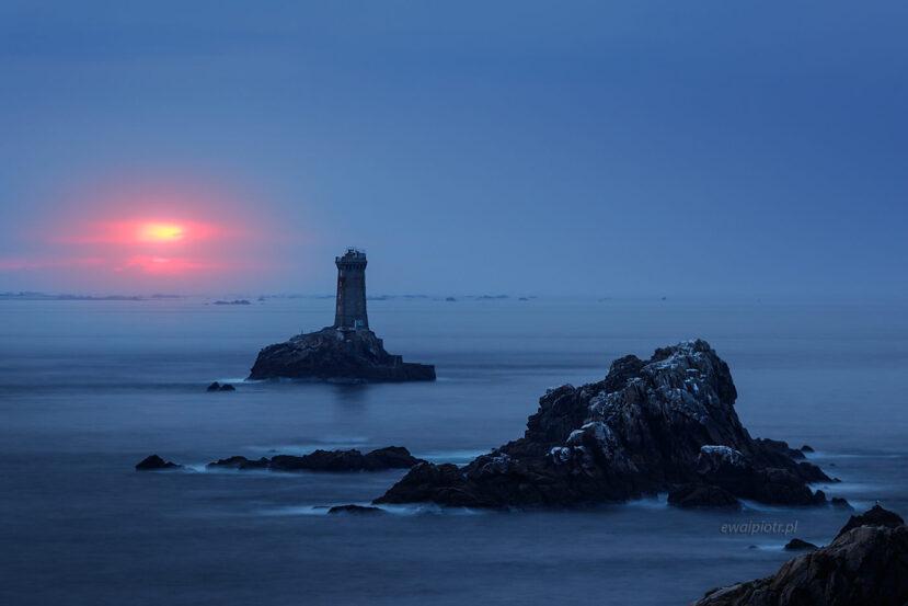 Pointe du Raz, zachód słońca, Bretania