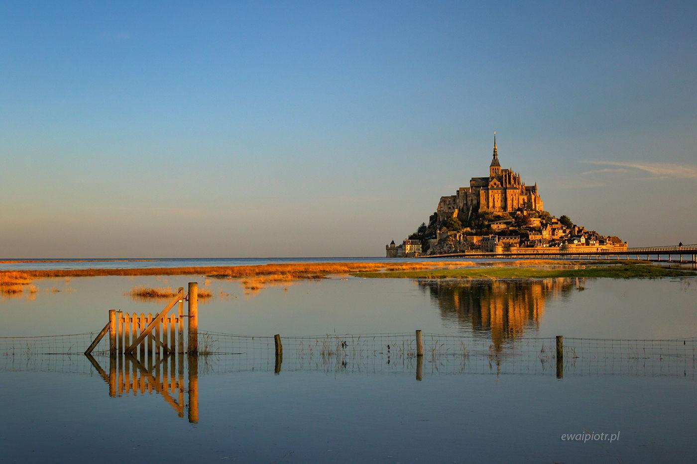 Mont Saint Michel i płotek, Bretania, fotowyprawa