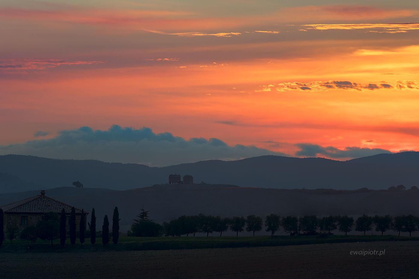 Po zachodzie słońca, Toskania, wyprawa foto