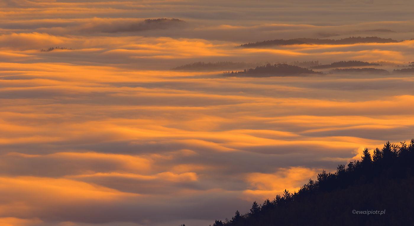 Morze mgieł nad Karkonoszami