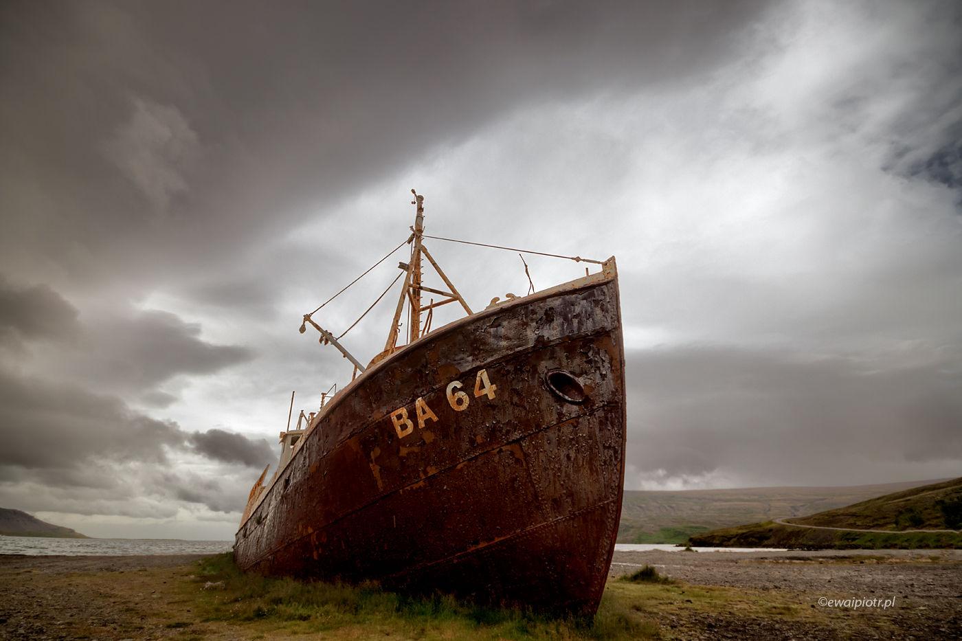 Koniec podróży. Islandia, Fiordy Zachodnie, chmura na fotografie, chmura dla fotografa