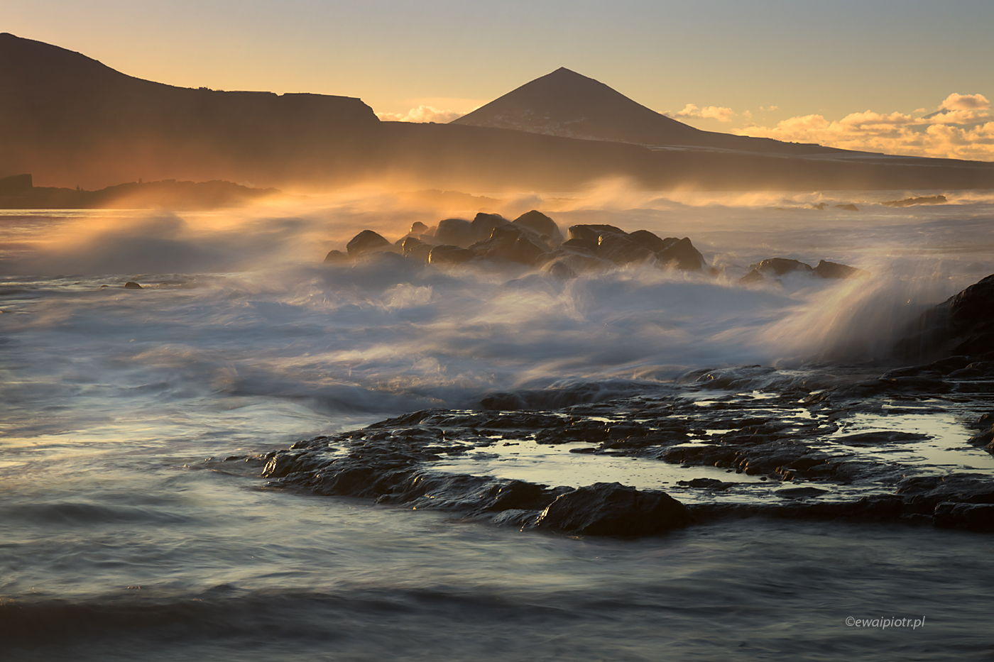 Zachód na wybrzeżu, Wyspy Kanaryjskie