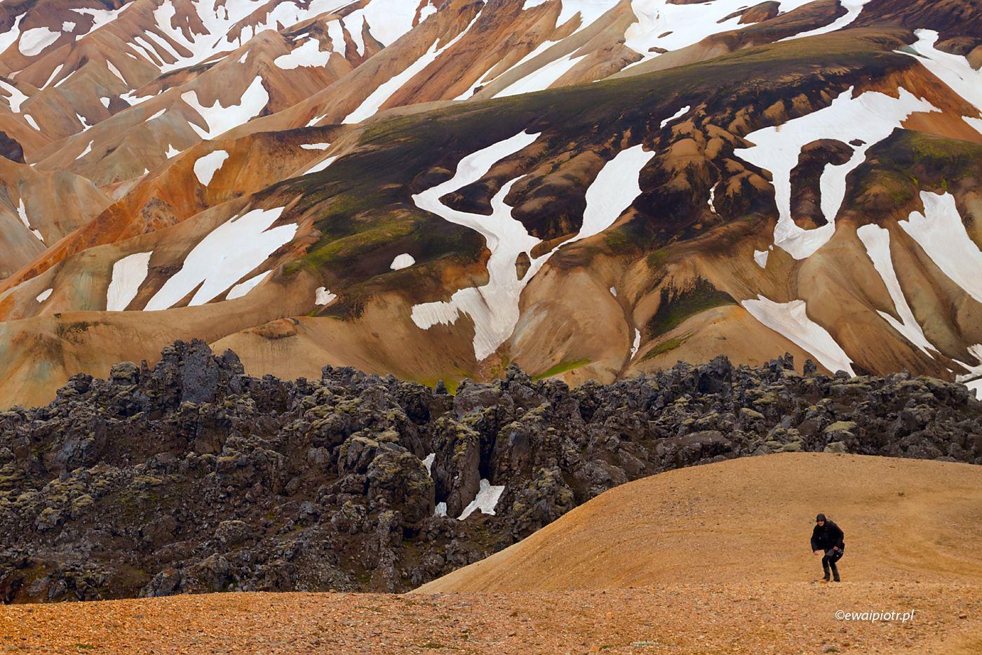 Pasiaste wzgórza Landmannalaugar, Islandia, czy na warsztatach fotograficznych trzeba dużo chodzić