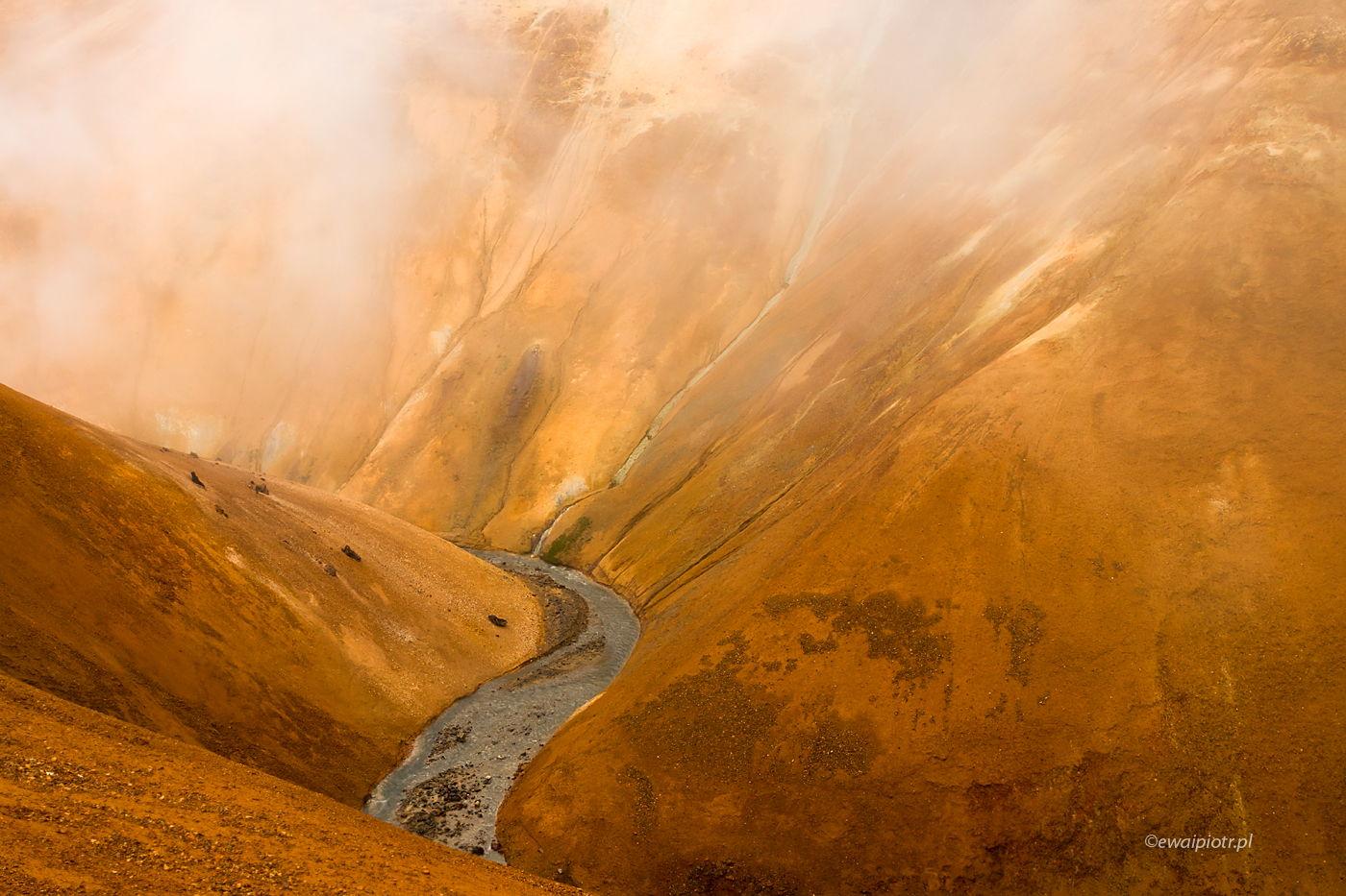 Kolorowe wzgórza Kerlingerfjoll, Islandia, ile trzeba chodzić na fotowyprawie