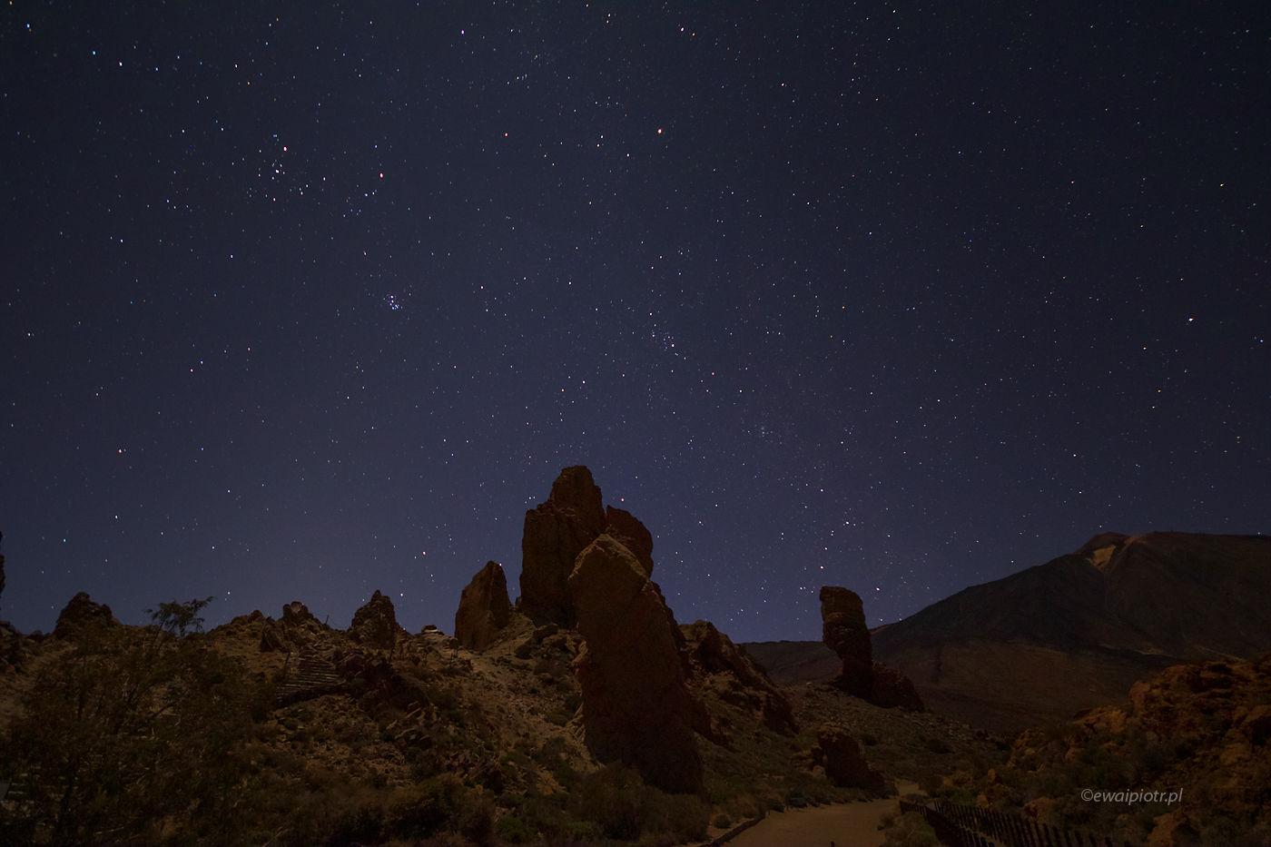 Gwiazdy nad Teide, Teneryfa, Wyspy Kanaryjskie