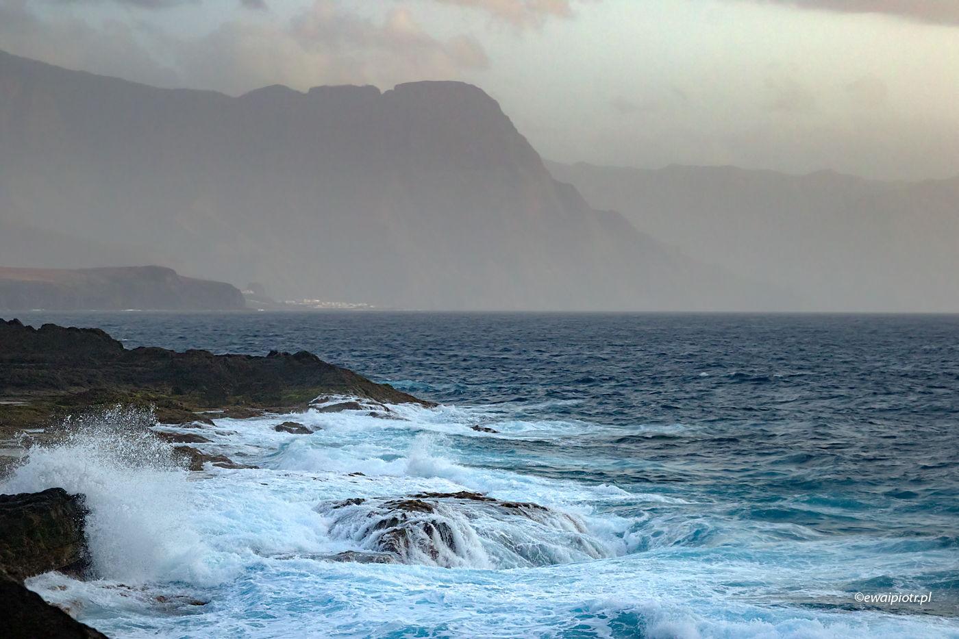 Sztormowa pogoda, Gran Canaria, Wyspy Kanaryjskie