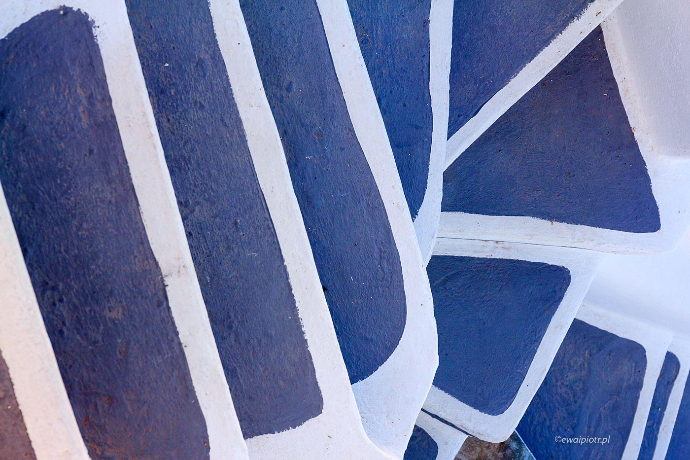 Schody na Santorini, wersja niebieska