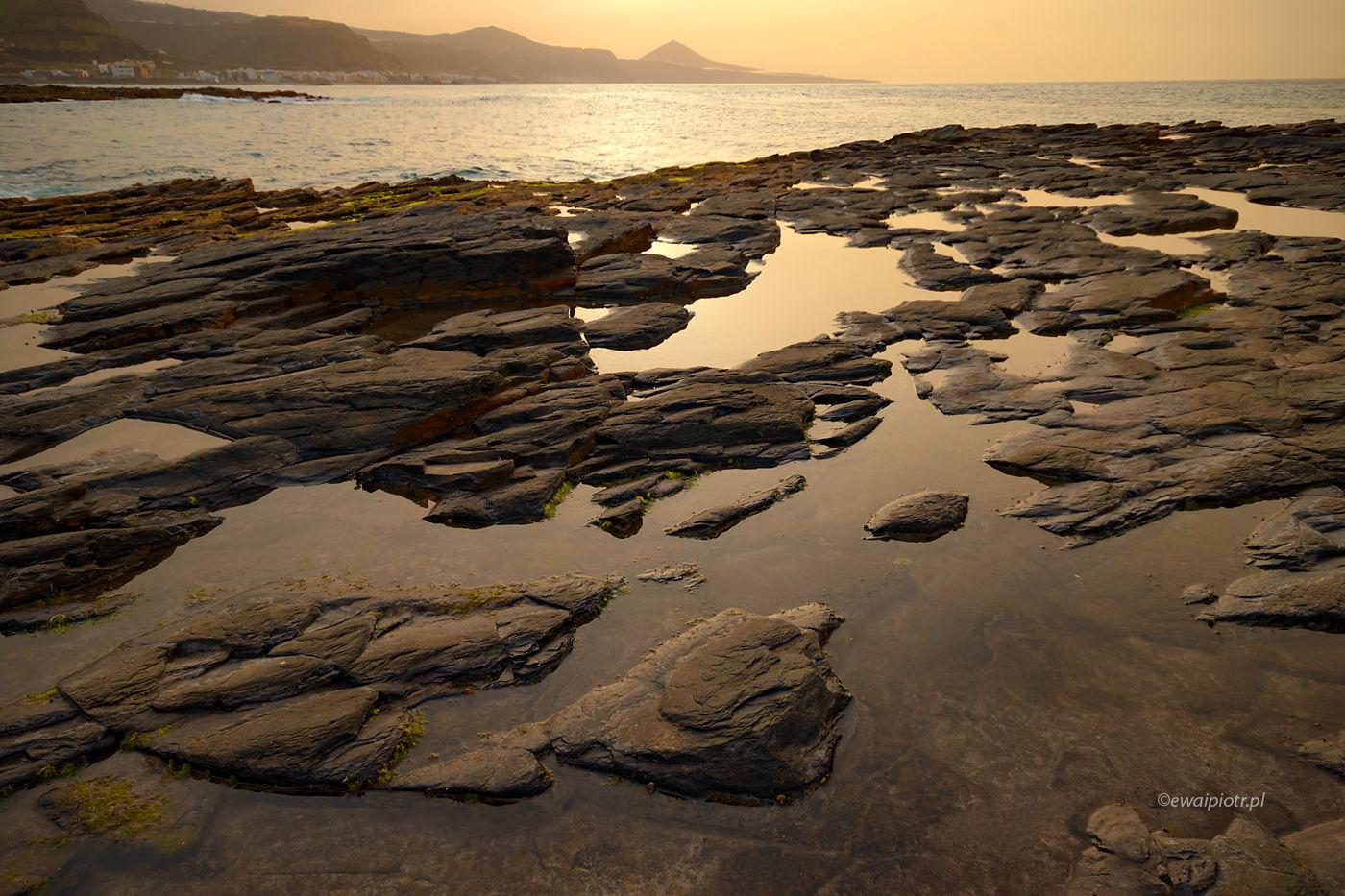 Skały i woda, Wyspy Kanaryjskie, ćwiczenia z kompozycji