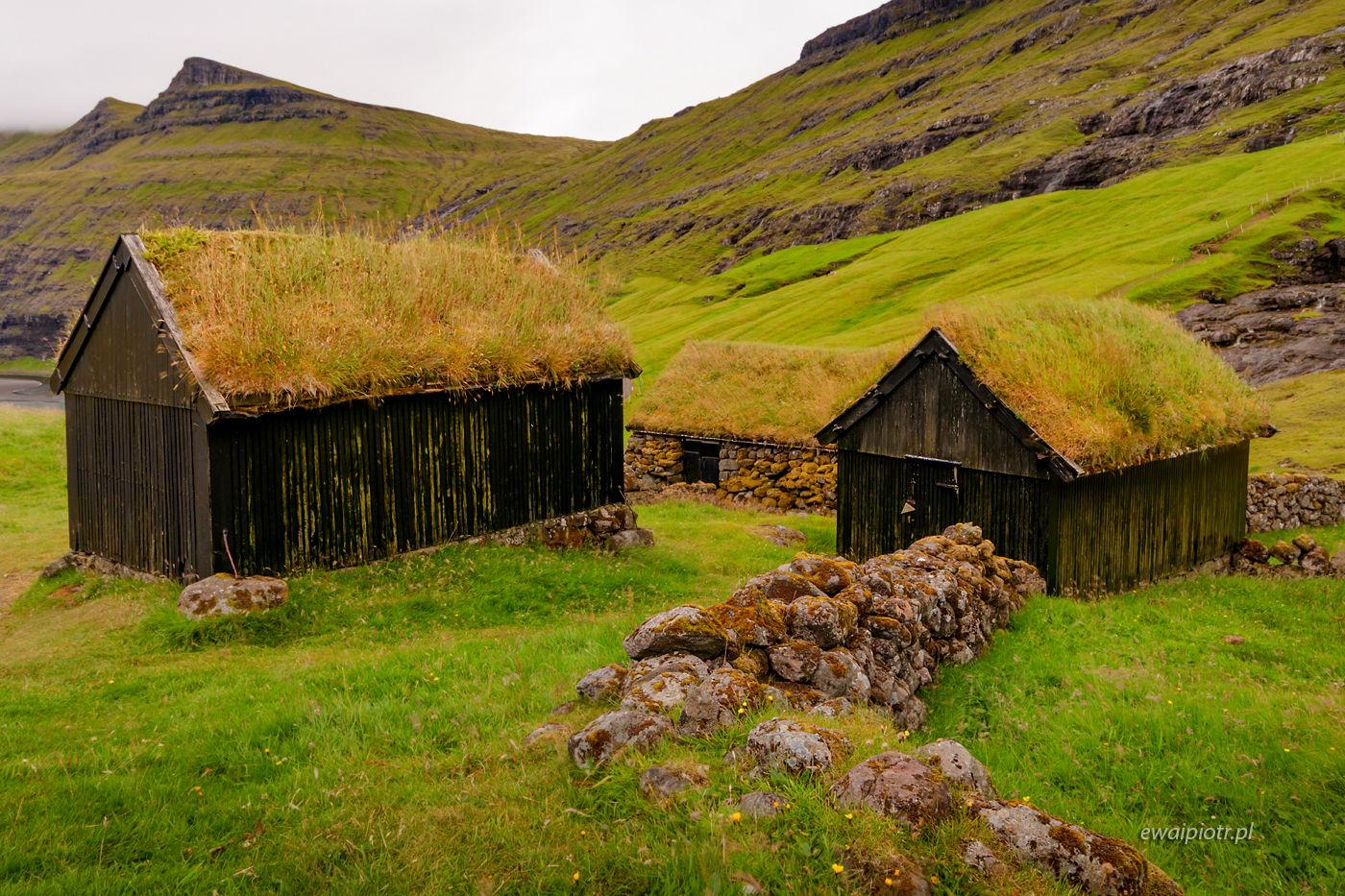 Zielone domy w Saksun, Wyspy Owcze