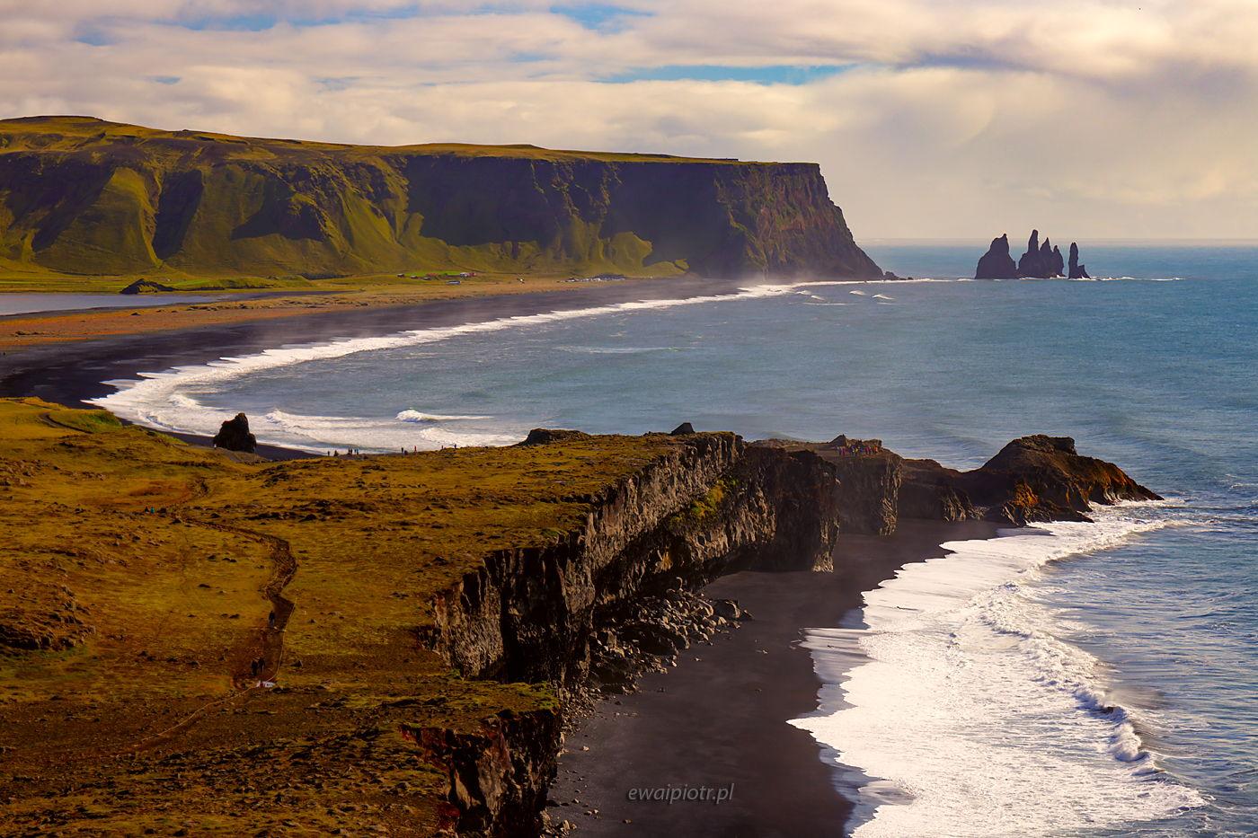 Klify Dyrholaey, Islandia