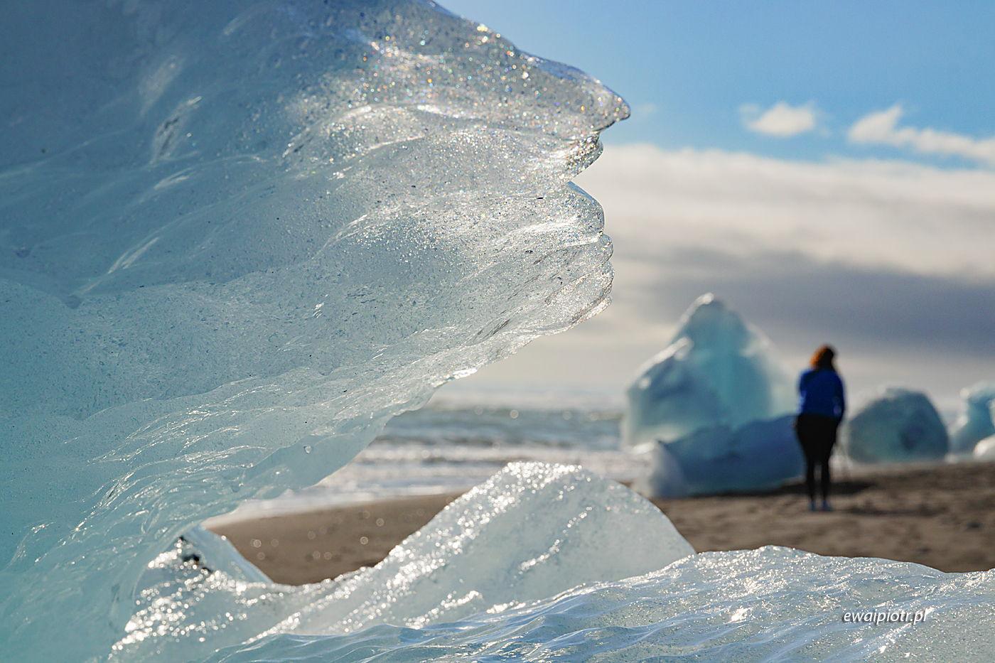 Lód na Diamentowej Plaży, Islandia