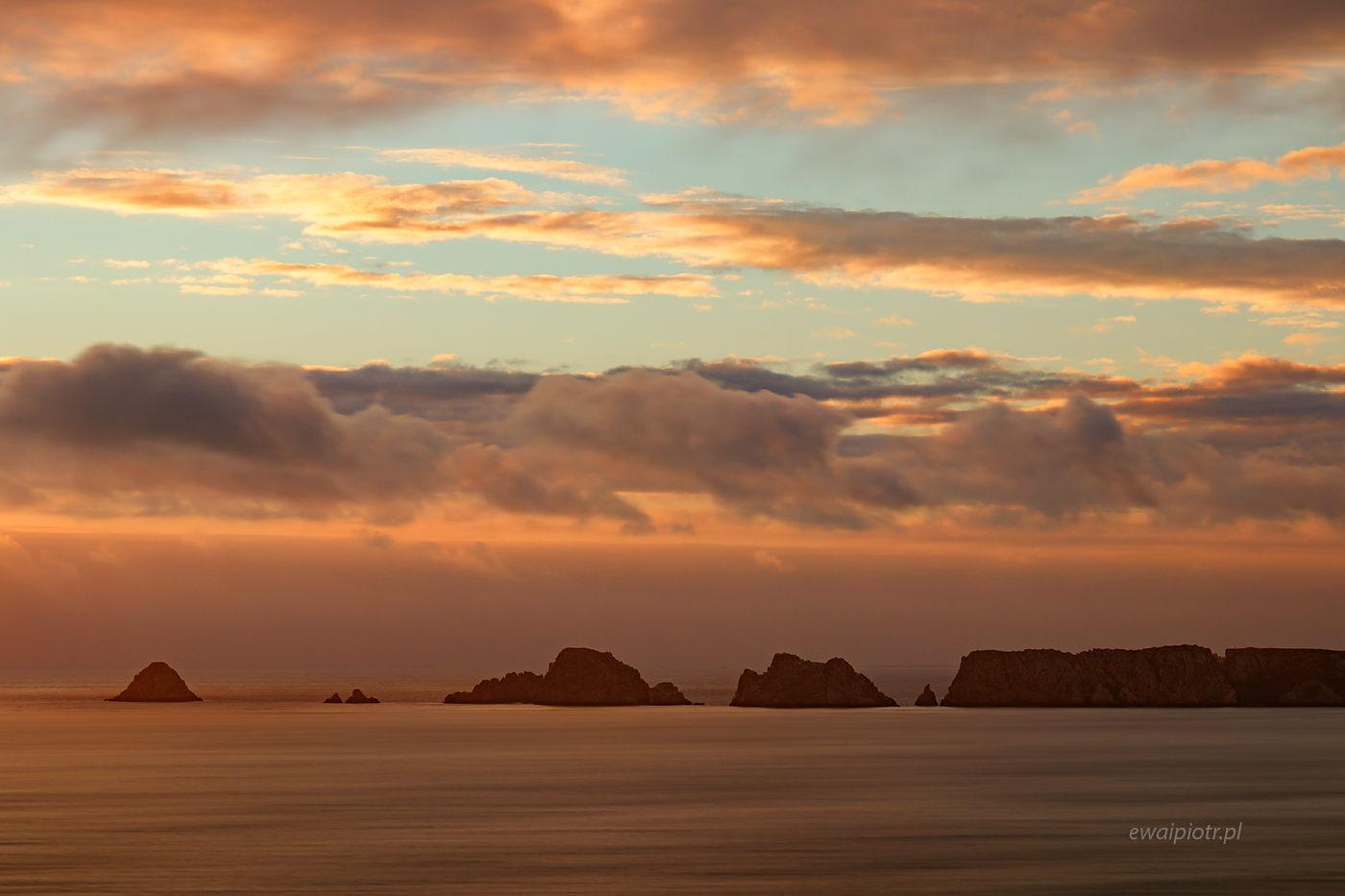 Zachód słońca przy Pointe de Dinan, Bretania