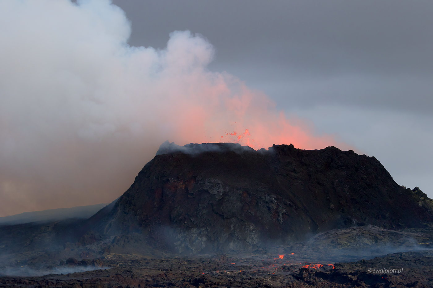 Wulkan Fagradalsfjall, Islandia